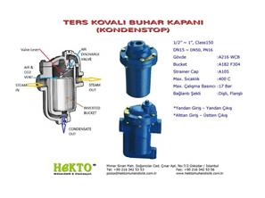Ters Kovalı Buhar Kapanı Kondenstop Inverted Bucket Steam Trap inverted