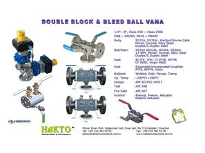 Double Block And Bleed Ball Valve Küresel Vana DBB Çift Blok Blid