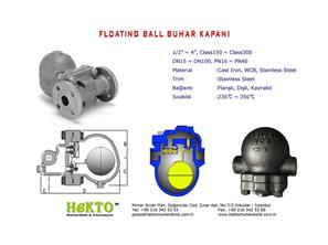 Floating Ball Steam TRAP FLOATING Şamndıralı Buhar Kapanı Yüzen Küreli Kondenstop