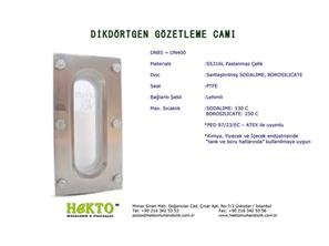 Dikdörtgen Gözetleme Camı Rectangle Sight SIGHT Glass