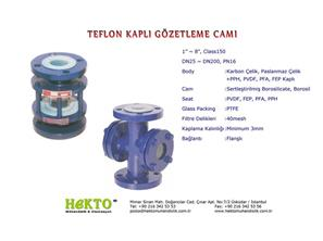 Teflon Kaplı Gözetleme Camı Lined LINED Sight Glass SIGHT