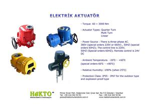 Elektrik Aktuatör Electric ELECTRIC Actuator