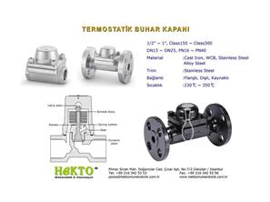 Termostatik Buhar Kapanı Thermostatic THERMOSTATIC Steam Trap Kondenstop