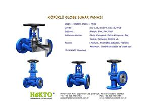 körüklü Glop Buhar Vanası Bellows Steam Globe Valve