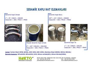 seramik Kaplı Hat Elemanları Ceramics CERAMICS Lined LINED Fittings FITTINGS