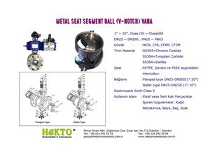 Metal Sit Segment Ball Vana  Seat V-Notch Valve