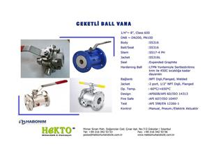 Ceketli Küresel Vana Jacketed Ball Valve