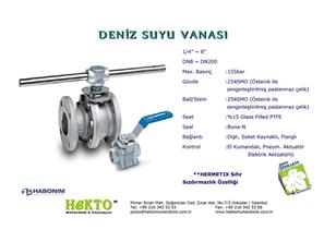 Deniz Suyu Küresel Vana Sea Water Seawater Ball Valve