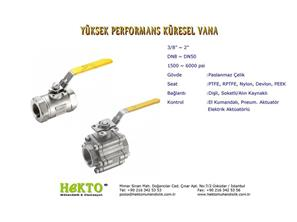 Yüksek Performans Küresel Vana High HIGH Performance Ball Valve