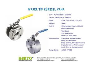 Wafer Tip Küresel Vana Wafer Type Ball Valve Flanged Flanşlı
